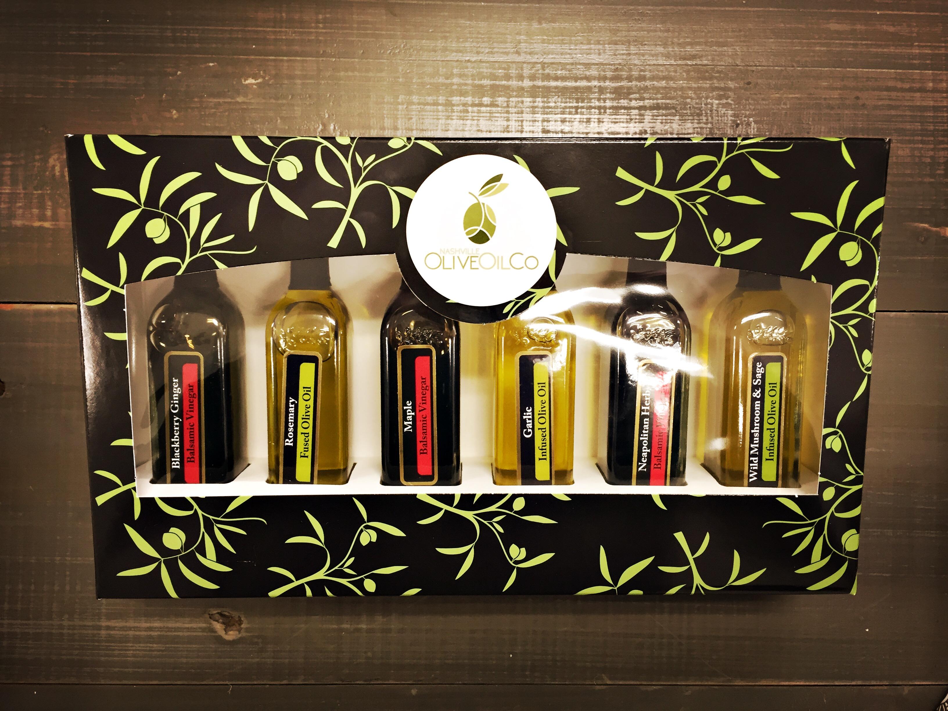 """Oil & Vinegar """"BEST SELLERS"""" Sampler Set of 6 Mini Bottles"""